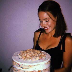 Jocelyn Hudon celebrating her birthday on November 19, 2018