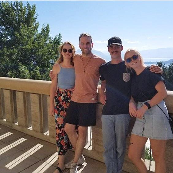 Morgan Kohan with her boyfriend Drew Nelson and friends