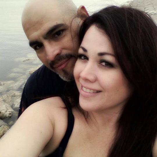 Vanessa Villanueva and her husband Henry Soliz.