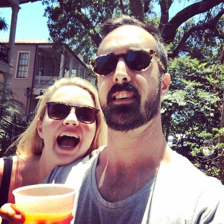 Dustin Keating alongside his ex-girlfriend Nickie Minshall