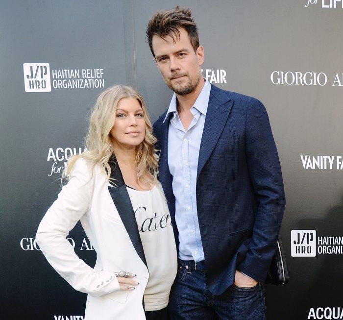 Josh Duhamel alongside his ex-wife Fergie in Hollywood, California