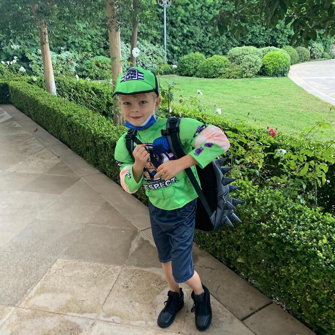Josh Duhamel and Fergie's son Axl Jack Duhamel dressed up as John Cena on Halloween.