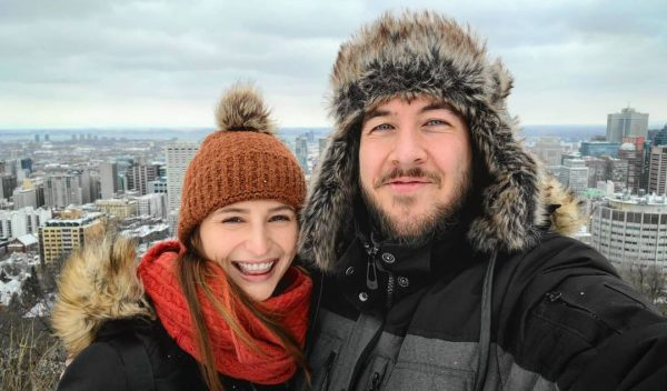Ryan George alongside his girlfriend Melissa Parapluie