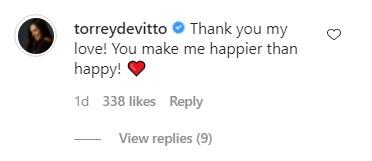 Torey DeVitto's comment on her boyfriend David Ross's post