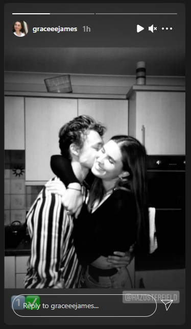 Harrison Osterfield's girlfriend Gracie James shares their picture.