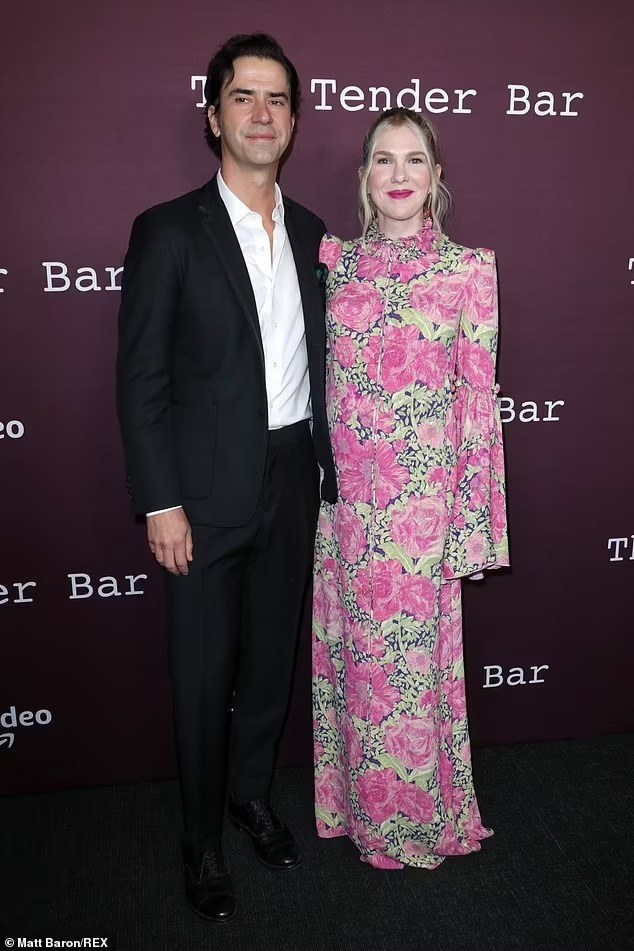Hamish Linklater and Lily Rabe at The Tender Bar premiere. (Source: Matt Baron/REX)